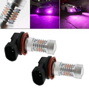 Pink Purple H11/H8 LED Fog Driving Light DRL Bulbs For 2006-2015 Honda Accord X2