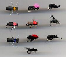 TRUITES MOUCHES: Mousse De Mouches: Coléoptères X 10 toutes tailles 12 (code 450)