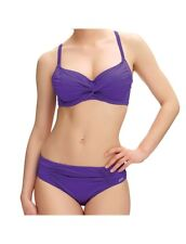 FANTASIE LOS CABOS VIOLET UNDERWIRE TWIST BIKINI TOP & BRIEF SET SIZE 32E/10E