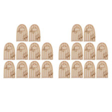 20Pieces Fairy Gardens Mini Wooden Fairy Door Supplies Accessories