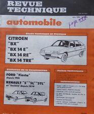 Revue technique CITROEN BX 14E 14 RE 14 TRE RTA 434 1983 + FORD FIESTA RENAULT 5