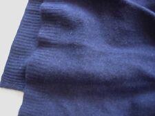 Navy Blue 100% Pure cashmere scarf Winter Unisex soft knit long