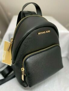 MICHAEL KORS ERIN SMALL MINI CONVERTIBLE BACKPACK SHOULDER BAG BLACK LEATHER