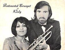 B58994 Sentimental Trumpet et Kandy musiciens musicians 12x51cm    movie star