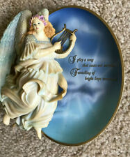"Bradford Exchange Messages From Heaven "" Angel Of Hope 3-d Collector Plate"