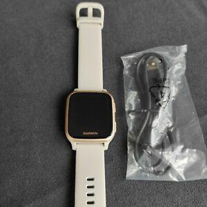 Garmin Venu Sq Music Edition GPS Smart Watch - Sand /Rose Gold Bezel, Brand New