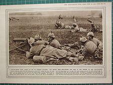 1915 WWI WW1 PRINT ~ BULLET-PROOF STEEL SHIELD GERMAN SOLDIERS