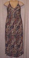 V Neck Animal Print Regular Size Maxi Dresses for Women