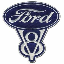 Ford Classic V8 Patch Embroidered Iron On Vintage Hot Rod Kustom Rockabilly