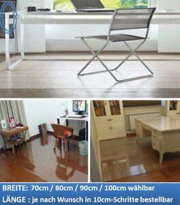 Bodenschutzmatte Bürostuhlunterlage Transparent Bodenmatte WUNSCHMAß Klar 1A