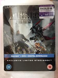 Kingsglaive Final Fantasy XV Steelbook Blu Ray and DVD UV Code New Sealed UK