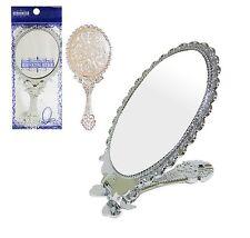Silver Decorative Compact Pocket Size Handheld Mirrors Desktop Vanity Mirror