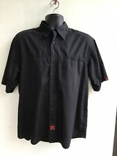 Independent Trucks Button Up Shirt Mens M, Black With Red Logos