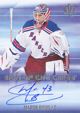 15-16 SP Authentic Martin Biron Auto Sign Of The Times NY Rangers 2015