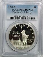 1986-S Statue of Liberty Commemorative Silver Dollar S$1 PCGS PR69DCAM