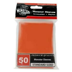Monster Protectors Card Sleeves Standard CCG Size - Gloss Orange (50) New
