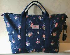 Cath Kidston Holiday Bag Foldaway Large Overnight Luggage Lightweight Navy Blue