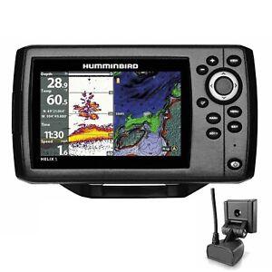 Humminbird Echolot GPS Plotter Komplett mit Geber - Helix 5 Chirp GPS G2