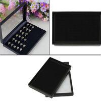 36 Slots Velvet Jewelry Ring Display Organizer Case Tray Holder Earring Storage