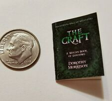 Miniature dollhouse Halloween witch spell book Barbie 1/12 Scale   Haunted NF