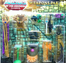MASTERS OF THE UNIVERSE CLASSICS GREAT WARS WEAPONS PAK ASSORTMENT W/ MAILER