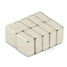 10PCS Super Strong Block Cuboid Magnets Rare Earth Neodymium 10 x 10 x 5 mm N50