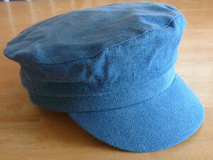 BRETON CAP MARINER FISHING HAT BLUE DENIM