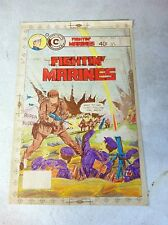Fightin Marines #150 original hand colored cover art, 1970's, machie gun War