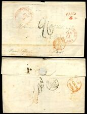 USA NEW ORLEANS 1854 NY BRITISH PACKET...SHIP AFRICA via GB to FRANCE 5c PAID