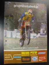 Programmaboekje Grand Prix 500cc Motocross 1981 Lichtenvoorde (NL)