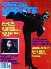 8/78 OFFICIAL KARATE CHUCK NORRIS GOGEN YAMAGUCHI BLACK BELT KUNG FU MARTIAL ART