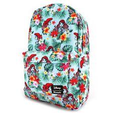 Loungefly Disney The Little Mermaid Ariel Floral Flower Leaves Backpack WDBK0347