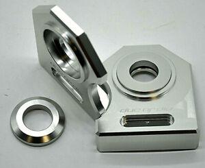 NEU Ducati Monster 600 750 900  Kettenspanner Achsplatte Schwinge Schutz silver