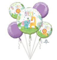 Anagram Fisher Price : Hello Baby Animals Elephant, bouquet Foil Balloon 5pc