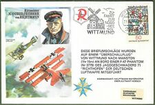 Manfred Freiherr von Richthofen, The Red Baron. Flown Art Cover 1917 - 1977.