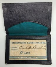 More details for 1862 international exhibition great london exposition ticket  kemble in holder