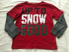 GYMBOREE OUTLET UP TO SNOW GOOD BOYS RED TOP SIZE 6