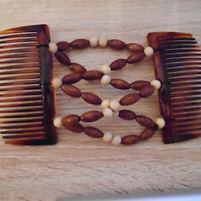 MAGIC LADIES  HAIR COMBS WITH ELASTIC BEADED  SECTION.