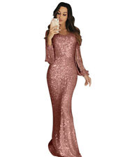 Womens Bodycon Sequin Tassel Cocktail Formal Cocktail Party Ball Gown Prom Dress