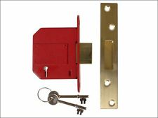 UNION - StrongBOLT 2100S BS 5 Lever Mortice Deadlock 81mm 3in Satin Brass Box