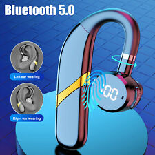 New listing Wireless Bluetooth 5.0 Headset Handsfree Earpiece Noise Reduction Stereo Earbuds