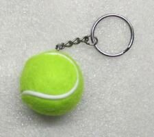 1.25 Inch Green TENNIS BALL Plush KEY CHAIN Ring Keychain NEW