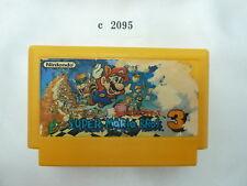 c2095 Super mario bros 3 Famicom Japanese NES FC Tested! Nintendo Cartridge