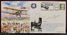 1998 5 x Signed Flight Cover Commemorating - The German Offensive April 1918