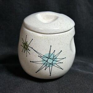 Franciscan Starburst Sugar Bowl with Lid  MCM Atomic Mid Century Modern