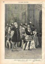 Paris Comédie-Française Hernani de Victor Hugo Dessin de Mr. Brun GRAVURE 1877