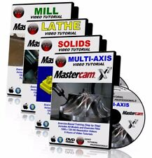 MASTERCAM X1-X7 LATHE + MILL + MULTI-AXIS Video Tutorial HD TRAINING