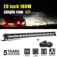 "20"" 180W barre de led light bar Offroad Phare de travail 4WD Singal Rampe+WIRNG"