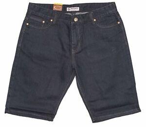 Mens Chisel Jeans Black Stretch Denim Slim Leg Shorts  Sale CJ-2500SS