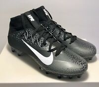 Nike Mens Size 10.5 Untouchable 2 Black Shattered Wolf Grey Football Cleats $200